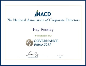 Fay Feeney 2011 NACD Governance Fellow