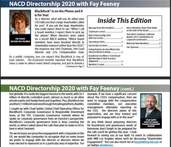 NACD Newsletter January